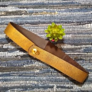 Unique Brown Leather Belt